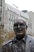 Chicago Illinois USA, A tribute to Jack Brickhouse, a famous Chicago sports announcer and reporter in Michigan avenue downtown Chicago. October 2006