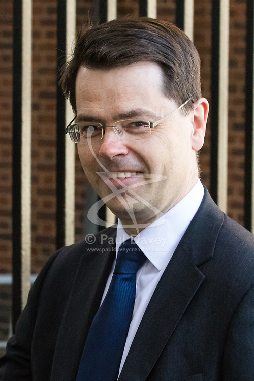 Downing Street, London, April 25th 2017. Northern Ireland Secretary James Brokenshire leaves the weekly cabinet meeting at 10 Downing Street in London. Credit: ©Paul Davey