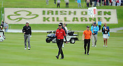 28-7-2011: Rory McIlroy, Ross Fisher and David Horsey walk to the18th green at the Irish Open in Killarney on Thursday..Picture by Don MacMonagle