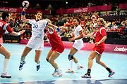 DESCRIZIONE : France Hand Jeux Olympiques Londres <br /> GIOCATORE : TERVEL Raphaelle FRA<br /> SQUADRA : France Femme<br /> EVENTO : FRANCE Hand Jeux Olympiques<br /> GARA : FRANCE NORVEGE<br /> DATA : 28 07 2012<br /> CATEGORIA : Hand Jeux Olympiques<br /> SPORT : Handball<br /> AUTORE : JF Molliere <br /> Galleria : France Hand 2011-2012 Action<br /> Fotonotizia : France Hand Femme Hand Jeux Olympiques Londres