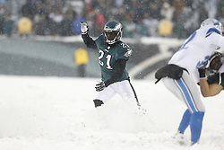 Philadelphia Eagles cornerback Roc Carmichael #21 moves towards the ball carrier during the NFL game between the Detroit Lions and the Philadelphia Eagles on Sunday, December 8th 2013 in Philadelphia. The Eagles won 34-20. (Photo by Brian Garfinkel)