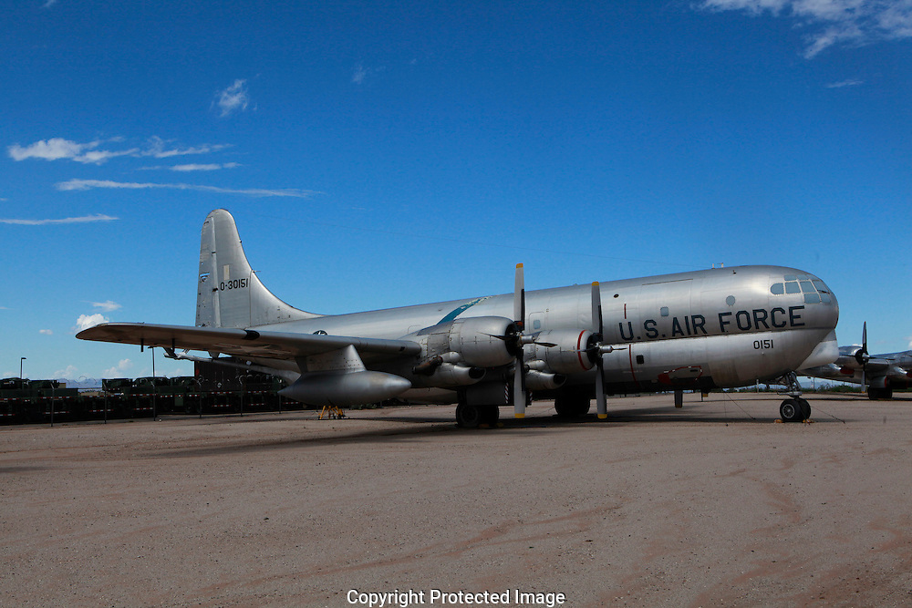 The Boeing C 97 Stratofreighter at the Pima Air and Space Museum in Tuscon, Arizona.<br /> The civilian version was the Boeing Stratocruiser <br /> Photo by Dennis Brack