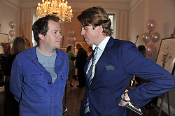 Left to right, TOM PARKER-BOWLES and BEN ELLIOT at a party to celebrate the 60th birthday of Mark Shand and the 50th birthday of Tara the elephant held at 29 Portland Place, London on 25th May 2011.