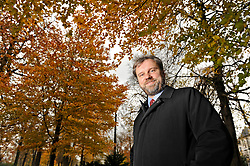 """BRUSSELS, BELGIUM - NOV-10-2008 - Wolfgang Münchau is a columnist for the Financial Times newspaper, who is based in Brussels, Belgium. Münchau, has written a book in the German language about the current financial crisis entitled """"Vorbeben"""", which roughly translated means a pre-tremor or warning of a coming earthquake. (Photo © Jock Fistick)"""