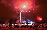 WASHINGTON, D.C. - Fireworks on the National Mall at the Washington Monument. Inauguration ceremonies for the second term of President George W. Bush at the U.S. Capitol, along the National Mall and along Pennsylvania Avenue on January 19, 2005 and January 20, 2005. Photography ©DONNA FISHER/The Morning Call
