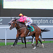 Lybica and Ryan Moore winning the 6.45 race