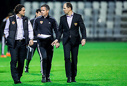Zlatko Zahovic, Sasa Gajser and Ante Simundza, head coach of Maribor during football match between FC Luka Koper and NK Maribor in 30th Round of Prva liga Telekom Slovenije 2013/14, on April 26, 2014 in Stadium Bonifika, Koper, Slovenia. Photo by Vid Ponikvar / Sportida
