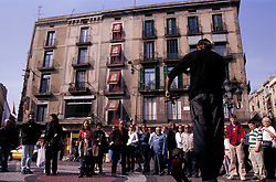 2009 - Barcelona, Spain - Puppet busker, Las Ramblas (Credit Image: © Axiom/ZUMApress.com)