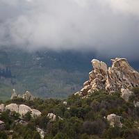 USA, Idaho, City of Rocks. City of Rocks National Reserve scenery.