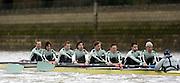 2005 Boat Race, Pre race fixture, Putney, London, ENGLAND. Cambridge University BC v GER M8+. Putney to Chiswick..CUBC - left to right,  Bow,  Luke walton, 2, Tom Edwards, 3. Henry Adams, 4. Steffen Buschbacher, 5. Sebastian Schulte, 6. Matthias Kleinz, 7. Tom James, Stroke Bernd Heidicker, cox Peter Rudge...Photo  Peter Spurrier. .email images@intersport-images...[Mandatory Credit Peter Spurrier/ Intersport Images] Rowing Course: River Thames, Championship course, Putney to Mortlake 4.25 Miles, Varsity:Boat Race