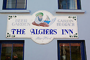 The Algiers in, in the fishing village of Baltimore, West Cork, Ireland. The name of the bar refers to the The Sack of Baltimore which took place on June 20, 1631, when the village was attacked by North African pirates from the North African Barbary Coast, and 108 English settlers taken away as slaves. This, the biggest attack of North African pirates on either Ireland or Britain, was led by Dutch captain turned pirate, Jan Janszoon van Haarlem, also known as Murad Reis the Younger. Murad was brough to the village by a fishing boat captain called Hackett, in exchange for his freedom. Hackett was later hanged for his conspiracy.
