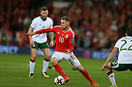 Aaron Ramsey of Wales in action.Wales v Rep of Ireland , FIFA World Cup qualifier , European group D match at the Cardiff city Stadium in Cardiff , South Wales on Monday 9th October 2017. pic by Andrew Orchard, Andrew Orchard sports photography