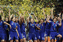 17-07-2011 VOETBAL: FIFA WOMENS WORLDCUP 2011 FINAL JAPAN - USA: FRANKFURT<br /> World Champion Japan with the Golden Cup<br /> ***NETHERLANDS ONLY***<br /> ©2011-FRH- NPH/Mueller