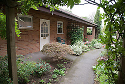 The exterior gardens and complex of warden aided bungalows for older people,