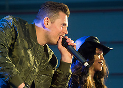 December 21, 2017 - Sevilla, Spain - WWE Superstars 'The Miz' and Alicia Fox answer questions during Chairmans USO Holiday Tour at Moon Air Base Dec. 21, 2017. .(Credit Image: