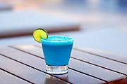 Hotel Paracas, Paracas, Peru, Blue Pisco Sour, Poolside