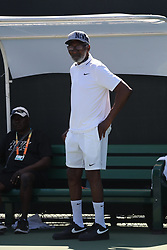March 23, 2018 - Key Biscayne, Florida, United States Of America - KEY BISCAYNE, FL - MARCH 23: Richard Williams on the practice court on day 5 of the Miami Open at Crandon Park Tennis Center on March 23, 2018 in Key Biscayne, Florida. ...People:  Richard Williams. (Credit Image: © SMG via ZUMA Wire)