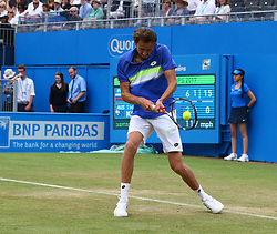 June 22, 2017 - London, United Kingdom - Daniil Medvedev (RUS) against Thanasi Kokkinakis (AUS) during Men's Singles Round Two match on the fourth day of the ATP Aegon Championships at the Queen's Club in west London on June 22, 2017  (Credit Image: © Kieran Galvin/NurPhoto via ZUMA Press)