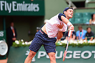 Diego Schwartzman (USA) during the preliminary rounds of the Roland Garros Tennis Open 2017 at Roland Garros Stadium, Paris, France on 2 June 2017. Photo by Jon Bromley.