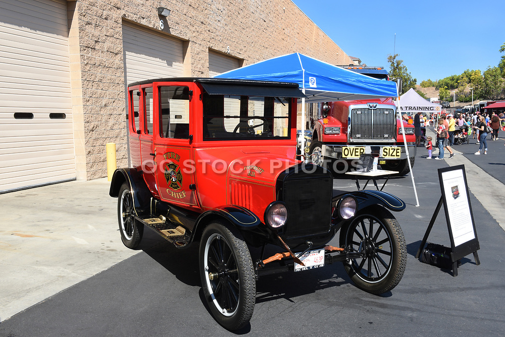 A 1924 Ford Model T Fire Chiefs Executive Car on display at the Orange County Fire Authority Annual Open House