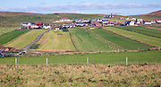 Strips of farm land, village of Ireland, Shetland Islands, Scotland