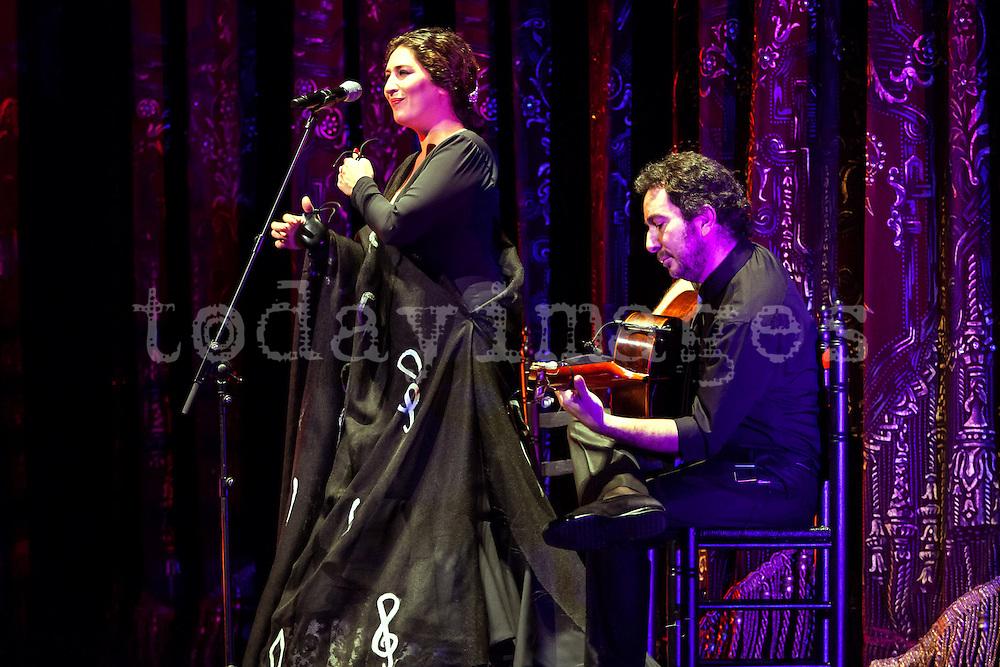 Estrella Morente performing  at the Teatro Real  in Madrid, 2013