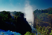 Victoria Falls on the Zambezi River in Zimbabwe, Africa