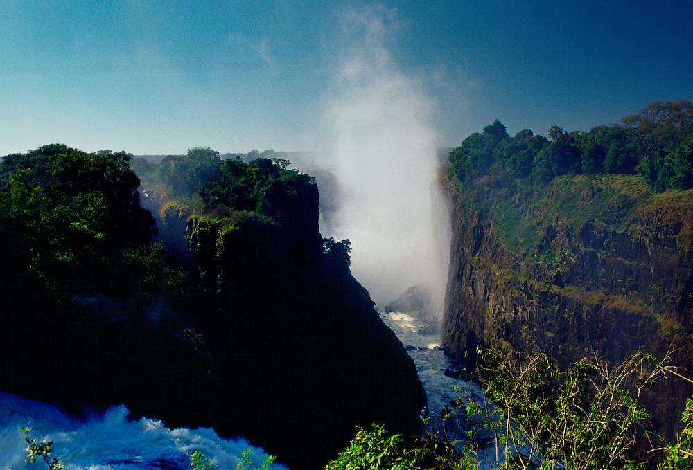 Victoria Falls on the Zambezi River in Zimbabwe, Africa