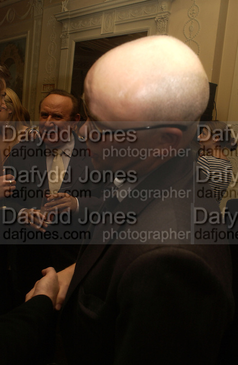 Andrew Neil and Toby Young. Party for Bret Easton Ellis's book 'Lunar Park'  given by Geordie Greig. Home House. Portman Sq. London.  London. 5 October 2005. . ONE TIME USE ONLY - DO NOT ARCHIVE © Copyright Photograph by Dafydd Jones 66 Stockwell Park Rd. London SW9 0DA Tel 020 7733 0108 www.dafjones.com