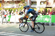 Bicycle made for two: Chris Froome gives a ride to Egan Bernal after the latter had a mechanical fault int he final kilometre of Stage 5 of the Volta Catalunya 2019, into Sant Cugat del Valles