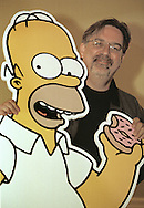 The Simpson's cartoon creator Matt Groening, pictured at the Assembly Rooms in Edinburgh, where the Simpsons-Mania show was taking place, celebrating 10 years   of the series on British television. Simpson-Mania will be staged in London on 17th and 18th August 2000.
