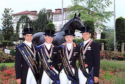 Prizegiving Young Riders<br /> European Championship Junioren 2010<br /> © Hippo Foto - Leanjo de Koster