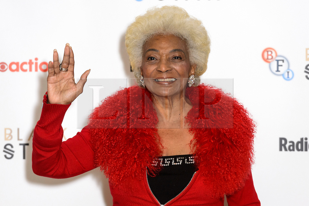 © Licensed to London News Pictures. 01/10/2016. Nichelle Nichols, Star Trek's original Lieutenant Uhura celebrates Star Trek at 50 at BFI Southbank. London, UK. Photo credit: Ray Tang/LNP