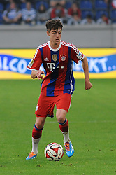 21.07.2014, Schau Ins Land Arena, Duisburg, GER, FS Vorbereitung, MSV Duisburg vs FC Bayern Muenchen, im Bild Lukas Scholl ( FC Bayern Muenchen ) // during a Friendly Match between MSV Duisburg and FC Bayern Muenchen at the Schau Ins Land Arena in Duisburg, Germany on 2014/07/21. EXPA Pictures © 2014, PhotoCredit: EXPA/ Eibner-Pressefoto/ Thienel<br /> <br /> *****ATTENTION - OUT of GER*****