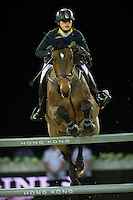 Jacqueline Lai on Capone 22 competes during the Hong Kong Jockey Club Trophy at the Longines Masters of Hong Kong on 19 February 2016 at the Asia World Expo in Hong Kong, China. Photo by Juan Manuel Serrano / Power Sport Images
