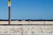 No Diving Sign, Empty Swimming Pool, East Coast Australia