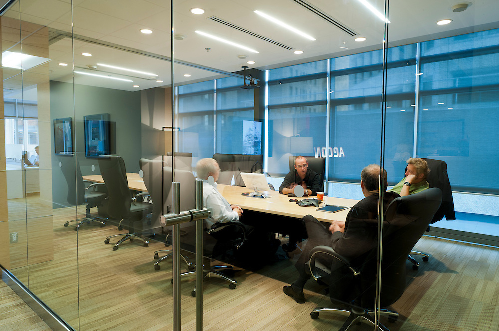 Meeting at AECON West's headquarters in Calgary, Alberta.