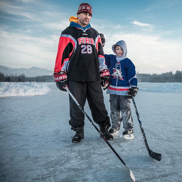Albert Circosta with his son, Oliver (7) at Westchester Lagoon, Anchorage  albertcircosta@gmail.com