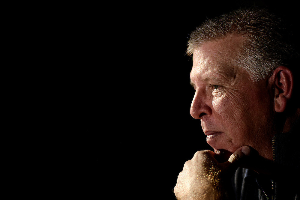 Photo by Matt Roth.Assignment ID: 10137576A..Cam Cameron, former offensive coordinator of the Baltimore Ravens is photographed at his home in Lutherville, Maryland on Wednesday, January 23, 2013. The team, who heads to New Orleans for the Super Bowl in two weeks, fired him in December.