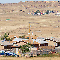 101813       Brian Leddy<br /> A Navajo Housing Authority subdivision in Crownpoint is surrounded by thousands of acres of open land but little of it is available to be developed.