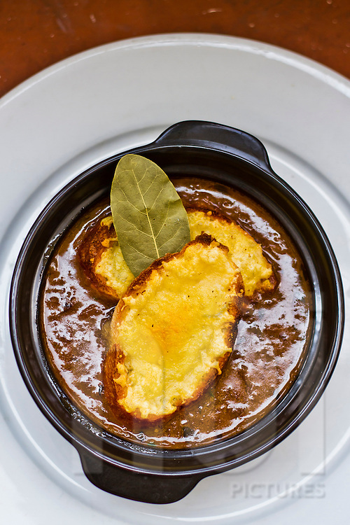 French onion soup at Saint Honore, Hanoi, Vietnam, Asia