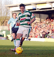 Photo: Daniel Hambury, Digitalsport<br /> Yeovil Town V Bristol Rovers.<br /> Coca Cola League Two.<br /> 12/02/2005.<br /> Phillip Jevons celebrates scoring his second goal.
