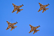 A formation of four IAF F-16I Fighter jet