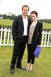 CLAIRE FOY and STEPHEN CAMPBELL MOORE at the 2013 Cartier Queens Cup Polo at Guards Polo Club, Berkshire on 16th June 2013.