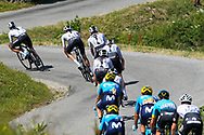 The Sky team leads the peloton in the climb of the La Rosiere during the 105th Tour de France 2018, Stage 11, Alberville - La Rosiere Espace Bernardo (108,5 km) on July 18th, 2018 - Photo George Deswijzen / Pro Shots / ProSportsImages / DPPI
