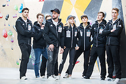 Slovenian national climbing team during press conference before the new season of climbing 2019, on April 1, 2019 in Ljubljana, Slovenia. Photo by Peter Podobnik / Sportida