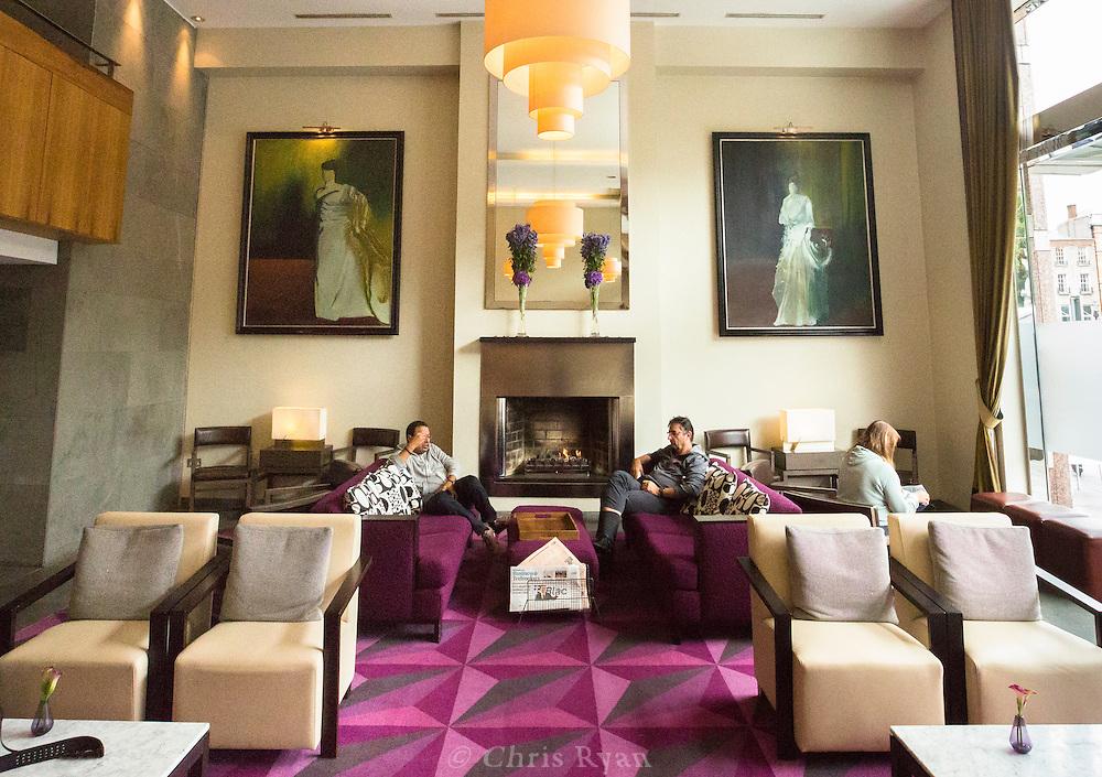 Fitzwilliam Hotel lobby, Dublin, Ireland