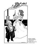 Hedda Gabler. Norman Rpdway as Judge Brack, Juliet Stevenson as Hedda Tesman