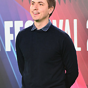 Joe Thomas arrives at The Phantom of the Open at BFI London Film Festival 2021, 12 October 2021 Southbank Centre, Royal Festival Hall, London, UK.