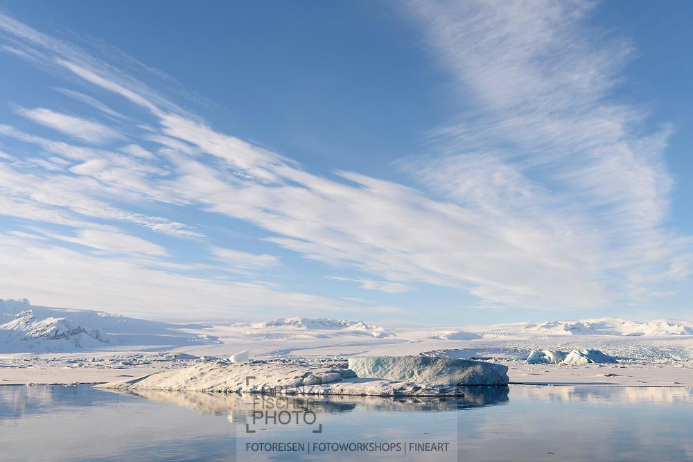 Landschaft bei der Gletschlagunge Jökulsarlon, Island<br /> <br /> Landscape at the glacier lagoon Jökulsarlon, Iceland